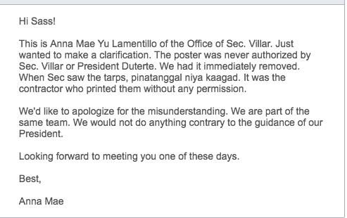 villar-reply