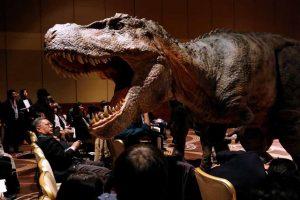 Japan Unveils Realistic Dinosaur Robots For A Planned Theme Park