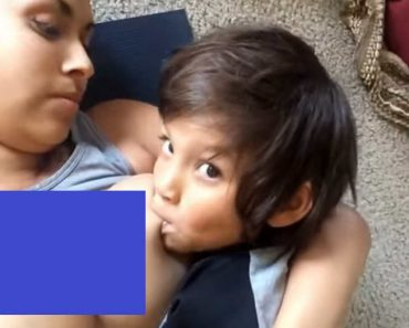 Woman Angers Netizens for Still Breastfeeding 6-Year-Old Son