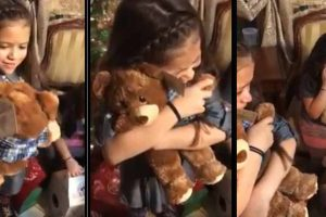 Heartbreaking Viral Video Shows Girls Hugging Teddy Bears With Late Grandfather's Voice Recording