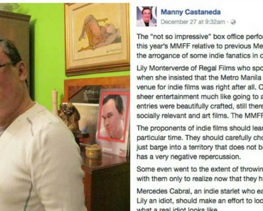 Film Director Manny Castaneda Allegedly Insults Indie Films in MMFF