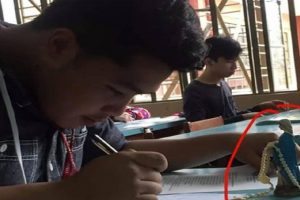 Student Who Brought Rosary and a Mary Statuette to Exams Goes Viral