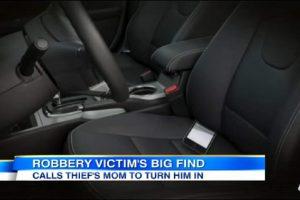 Thief Drops Phone in Victim's Car, She Calls His Mom