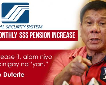 Duterte Approves Php1k SSS Pension Hike