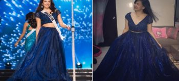Miss Bulgaria Gives Gown to a Single Mom's Daughter