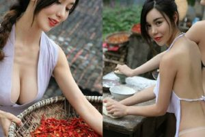 Chinese Village Girls Sizzle in Photoshoot