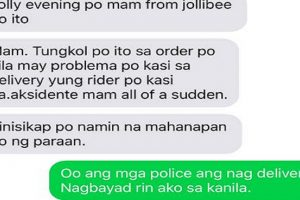 Cops Deliver Jollibee Order after Rider Meets Accident