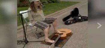 Armless Musician Plays Guitar Using His Feet!