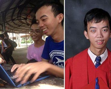 Nearly Blind Student from Mindanao, Graduates Cum Laude