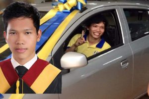 Working Student Tops Mechanical Engineering Board Exams, Receives Brand New Car