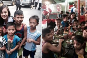Beautiful College Student Spends Time with Street Kids