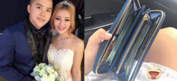 Generous Husband Puts Lots of Cash in Wife's Wallet