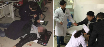After Collapsing, Chinese Gamer Insists on Getting Back to Game