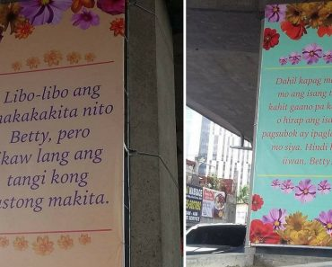 Giant Love Letter Written on Tarpaulins, Catches Netizens' Attention