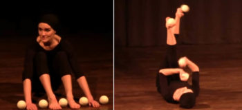 """This Woman's """"Foot Juggling"""" Performance is Amazing!"""