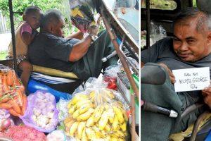 Disabled Vegetable Vendor Gets Robbed Several Times, Goes Viral for Working Hard Despite Condition