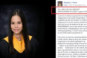 """""""All Around Housemaid"""" Who Graduated from College, Shares Inspiring Story"""