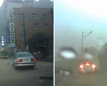 Video Shows Incredible Moment a Car Narrowly Gets Hit by a Giant Boulder