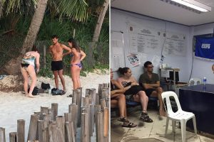 Foreigners in Tears after Thieves Take All Their Valuables at Beach in Boracay