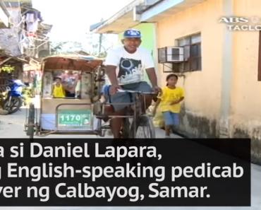 English-Speaking Pinoy Pedicab Driver from Samar Goes Viral