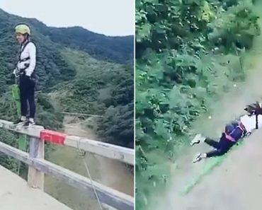 Woman Nearly Dies after Bungee Jumping Off a Bridge but the Rope was Too Long