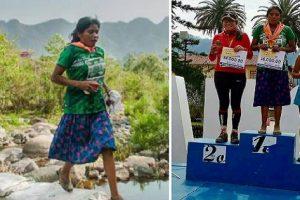 Girl Wearing Long Skirt and Rubber Sandals, Wins 50-km Ultra-Marathon