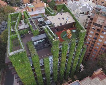 """The Green Heart of Bogota"" is The World's Greatest Vertical Garden"