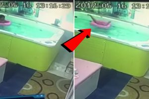 Toddler Nearly Dies after Getting Trapped Upside Down in Pool