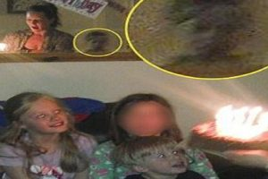 Family Freaks Out after Seeing Ghost in Daughter's Birthday Party Photos