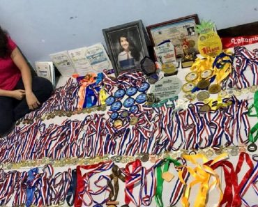 Pinay Girl Goes Viral for Having Over 200 Scholastic Medals