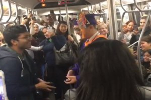 Passengers Throw Impromptu 'Ceremony' to Student Who Missed Graduation due to Train Delay