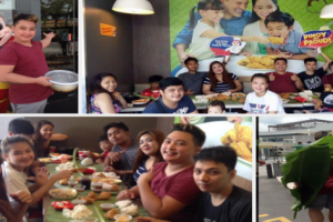 A Family Finds Fun In Eating by Having a Boodle Fight Inside a Fast Food