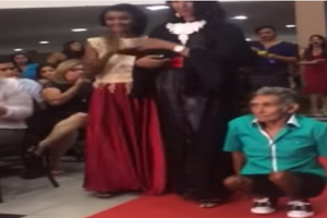 Crowd Cheered for Disabled Dad Who Used Hands to Escort Daughter on Graduation Day