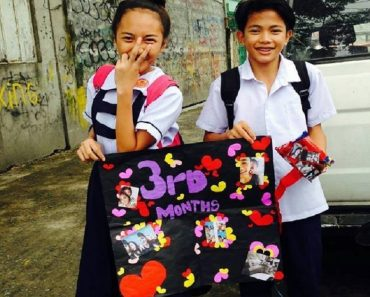 Netizens React to Grade School Couple Celebrating 3rd Monthsary