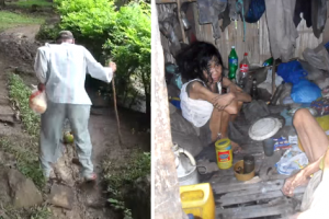 Old Man Who Walks Miles to Feed Disabled Daughters, Receives Help from Good Samaritans