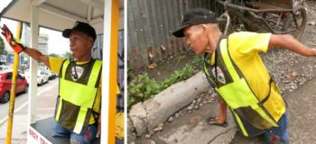 Man with Deformed Hands and No Legs, Directs Traffic in Cebu