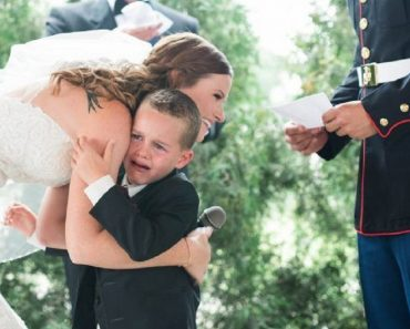 4-Year-Old Boy Cries Happily after Stepmom Includes Him in Wedding Vows