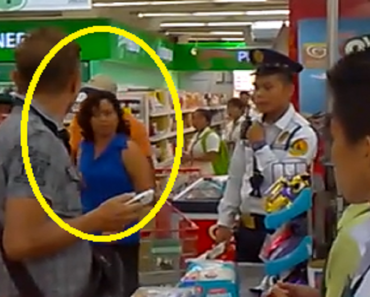 Angry Customer Makes Guard Eat Receipt She Left at the Counter