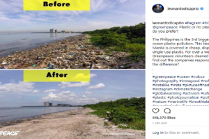 Leonardo DiCaprio's Photo of PH Beach Before and After Cleanup Goes Viral