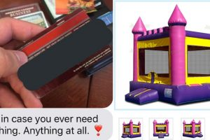 Rejected Suitor Gives Credit Card to Girl, Get Surprised at Her Bouncy Castle Purchase