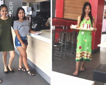Girl Goes Viral for Wearing Duster Dress at KFC While Friends are in Casual Outfits