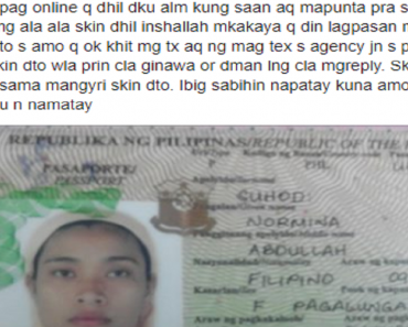 Abused OFW Saddens Netizens with 'Last Post' on Facebook