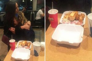 Elderly Woman Cries after Receiving Fresh Meal from Kind Hearted Lady