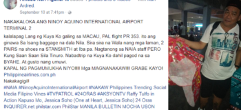 PAL Clears Name after OFW Accused Them of Stealing Contents of Luggage