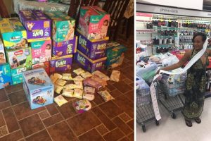This Woman Takes 'Extreme Couponing' Addiction for a Good Cause to Donate to Hurricane Victims