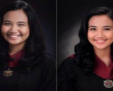 Graduate Shares Inspiring Story of Her Two Graduation Photos