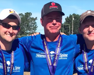 Runner Completes Marathon with Doctor and Man Who Paralyzed Him