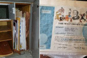 Man Inherits Mysterious Safe Containing Disney Co. Stock Certificates from Uncle
