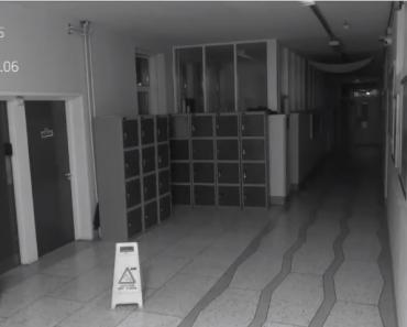 School CCTV Catches 'Paranormal' Activity in Empty Hallway