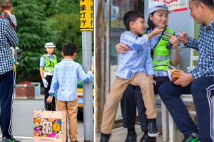 Family Celebrates in the Street with On-Duty Traffic Cop Who Couldn't Attend Reunion
